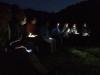 Guest House à côté de Vardzia. Répétition de nuit à la lampe de poche.